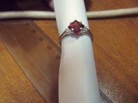 Изготовление кольца из золота 750 пробы с гранатом и бриллиантами